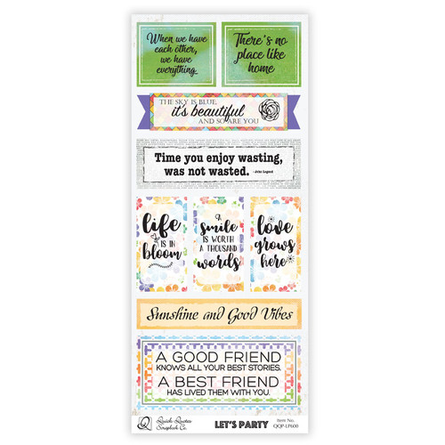 Let's Party Quotes & Phrases Strip