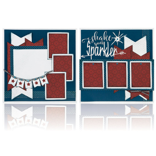 """Shake Your Sparkler -  (2) 12"""" x 12"""" Page Layouts"""