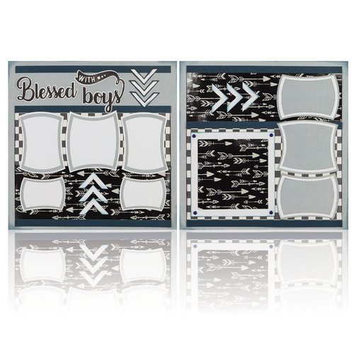 """Blessed with Boys -  (2) 12"""" x 12"""" Page Layouts"""