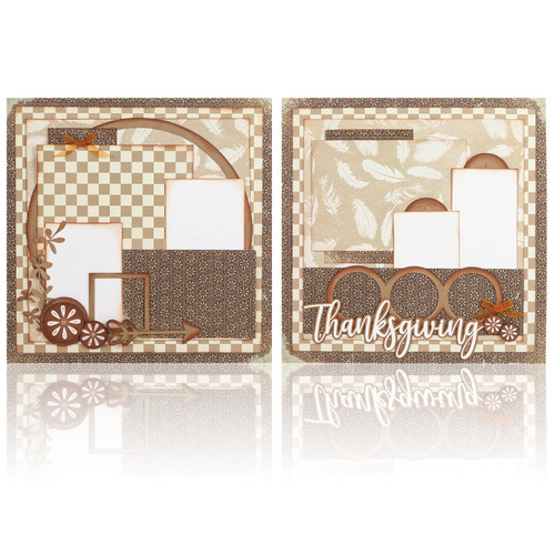 """November Add On 1: Thanksgiving -  (2) 12"""" x 12"""" Page Layouts"""