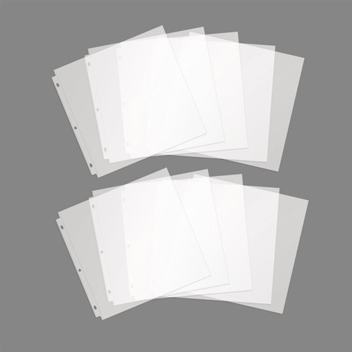 """10 Pack of 12"""" x 12"""" Page Protectors"""