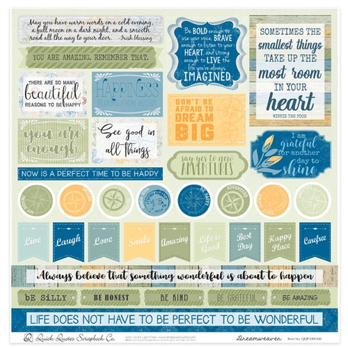 "Dreamweaver 12"" x 12"" Quotes & Phrases"