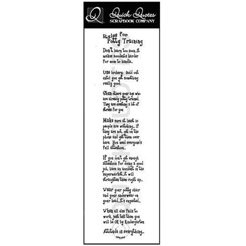 Rules for Potty Training Vellum Strip