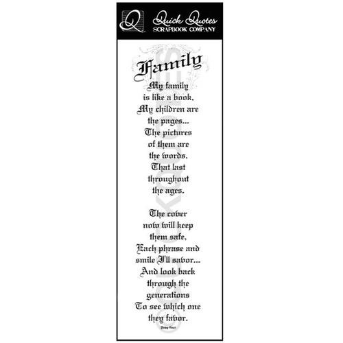 Family Vellum Strip