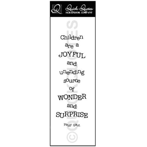 Children are Joyful Vellum Strip