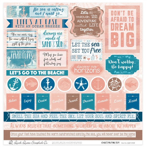 "Chasing The Sun 12"" x 12"" Quotes & Phrases"