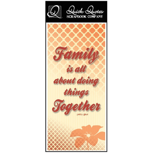 Family is all about - Color Vellum