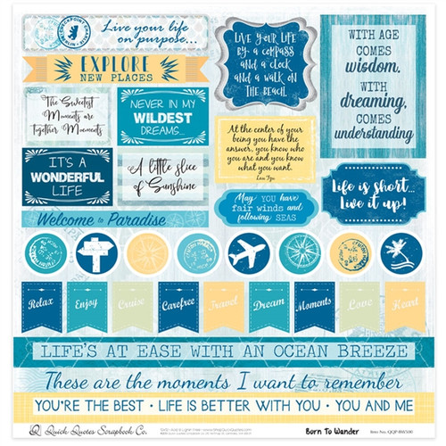 "Born To Wander 12"" x 12"" Quotes & Phrases"