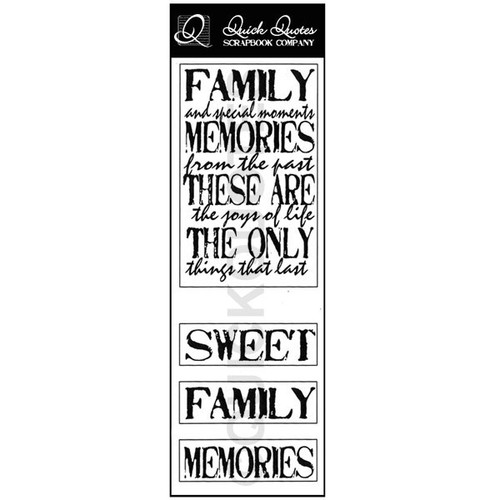 Family and Special Moments Vellum Strip