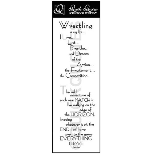 Wrestling Vellum Strip