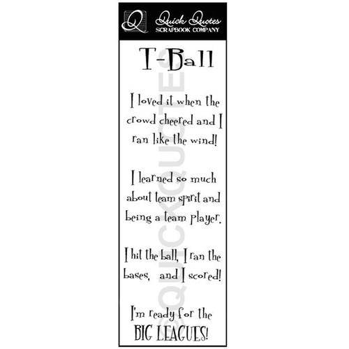 T-Ball Vellum Strip