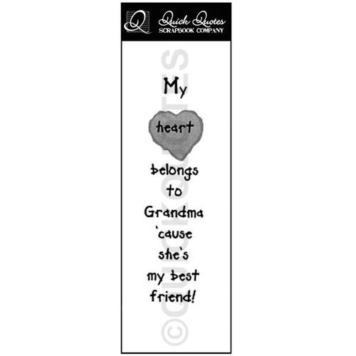 My Heart Belongs To Grandma Vellum Strip