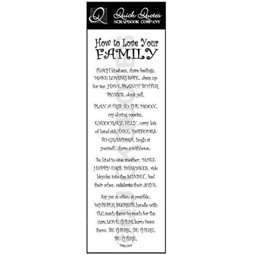 How to Love Your Family Vellum Strip
