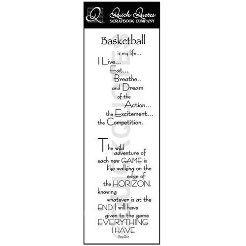 Basketball Vellum Strip