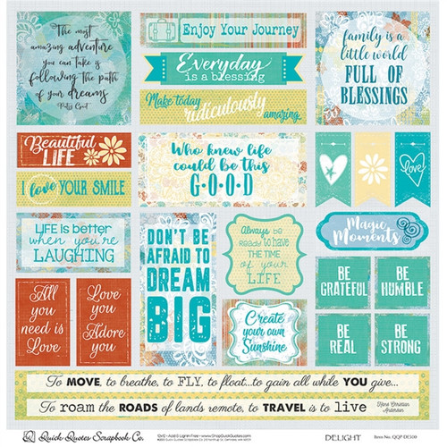 "Delight 12"" x 12"" Quotes & Phrases"