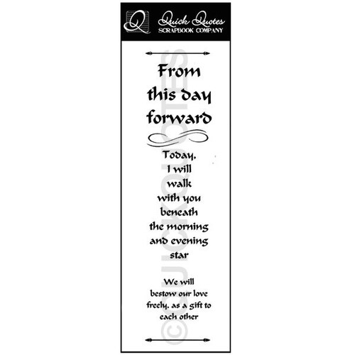 From This Day Forward Vellum Strip