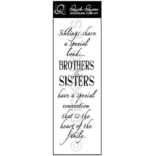 Sibling share a special bond - Vellum Strip