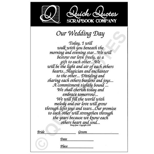 Our Wedding Day Full Page Vellum 1