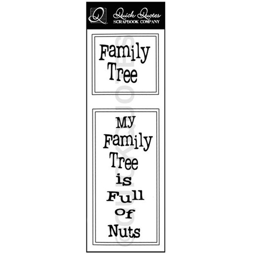 Family Tree Vellum Strip