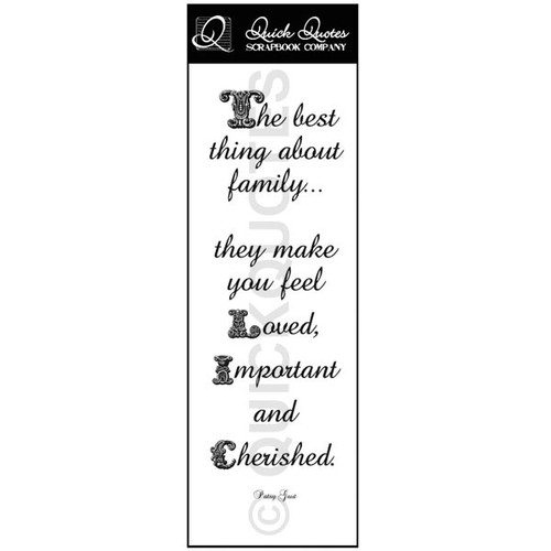 The best thing about family - Vellum Strip