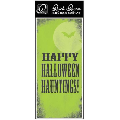Happy Halloween Hauntings! - Color Vellum