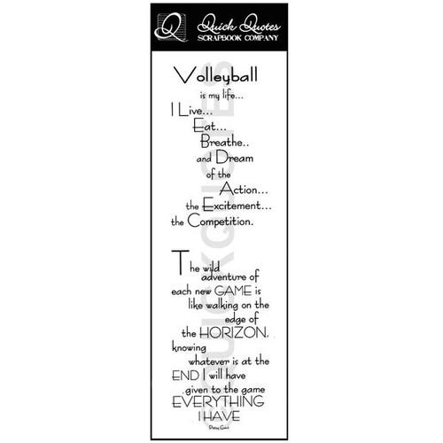 Volleyball Vellum Strip
