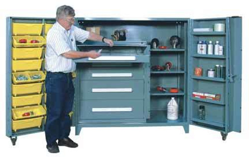 1103 Lyon All Welded Cabinet With Modular Drawers And Tilt Bins