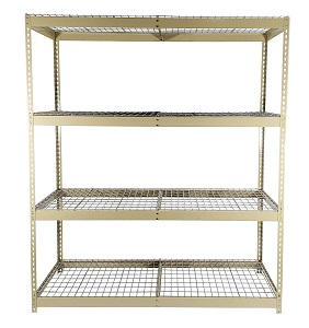 Rivet Shelving with Wire Decking