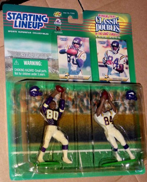 Cris Carter and Randy Moss of the Minnesota Vikings Action Figure Set - 1999 Starting Lineup Winning Pairs Classic Doubles NFL Football Superstar Collectibles