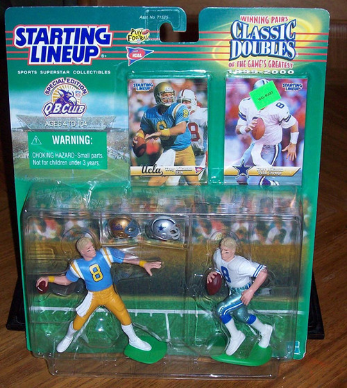 Starting Lineup Classic Doubles Series ~ Troy Aikman (UCLA & Cowboys) 1999