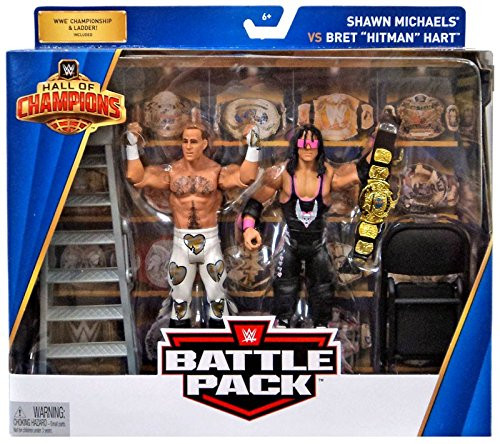 WWE Hall of Champions Bret Hart/Shawn Michaels Action Figure