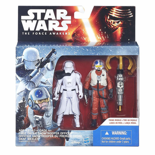 Star Wars: The Force Awakens 3.75 Inch 2 Pack Snap Wexley and First Order Snowtrooper Officer