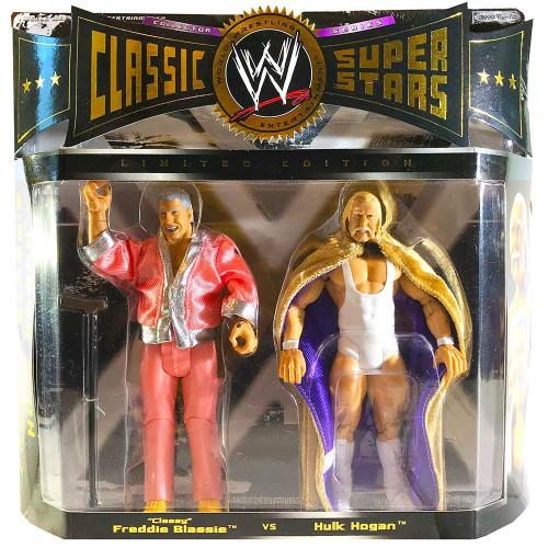 WWE WWF Jakks Classic Superstars Series 2 Pack Limited Edition: Classy Freddie Blassie vs. Hulk Hogan - Wrestling Action Figures