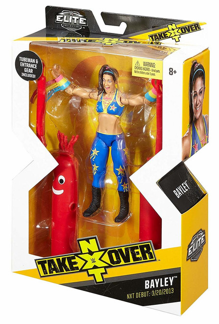 WWE NXT Takeover Elite Action Figure Bayley with Entrance Gear and Tube Man