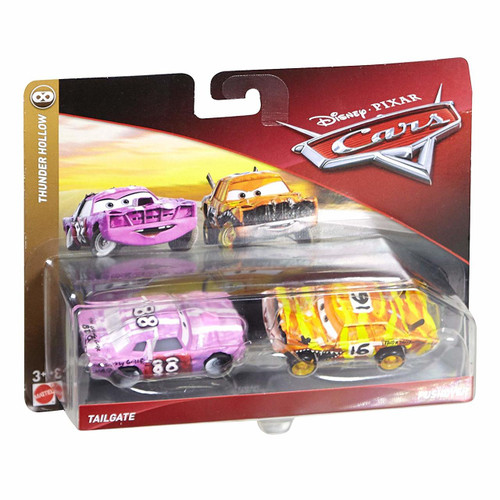 Disney Cars Character Car Tailgate & Pushover Toy Vehicle (2 Pack)
