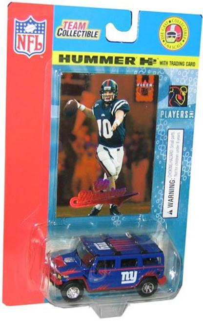 Hummer H2 Die Cast Eli Manning 2004 Fleer Collectible Card