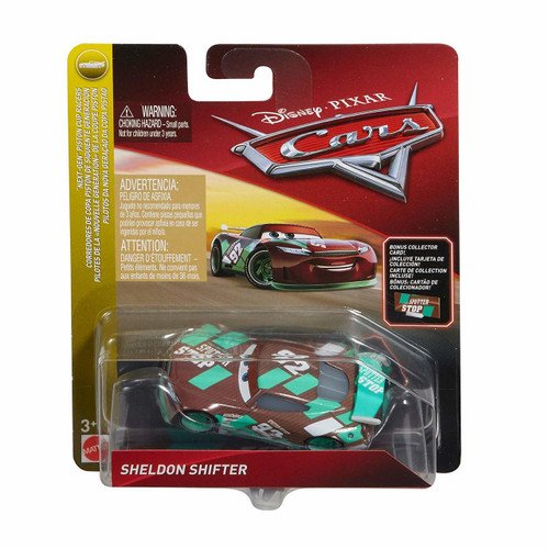 Disney Cars Die Cast Sheldon Shifter with Accessory Card Toy Vehicle