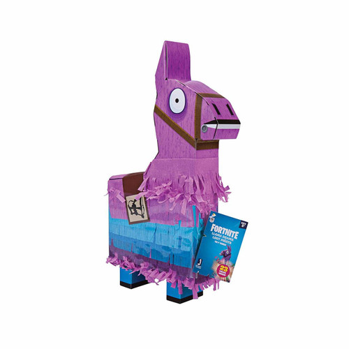 """Fortnite Llama Drama Loot Pinata 23 Pieces Inside Including 4"""" Rust Lord and Legendary Weapons"""