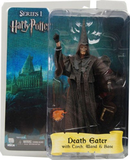 NECA Death Eater With Wand And Base - Silver Mask - Factory Sealed Brand New