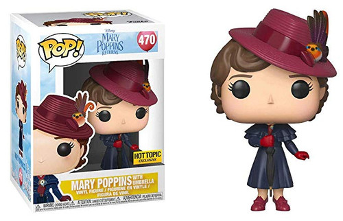 Funko POP! Disney: Mary Poppins Returns - Mary Poppins [with Umbrella] #470 - Hot Topic Exclusive!
