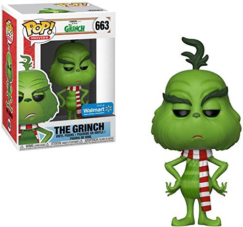 POP Funko Movies 663 The Grinch with Scarf Exclusive Vinyl Figure