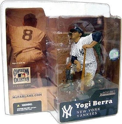 McFarlane Toys MLB Cooperstown Series 1 Action Figure Yogi Berra (New York Yankees) Shiny Hat