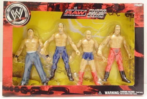 Raw Superstars 4 Pack Cena, Edge, Angle, & Jerico