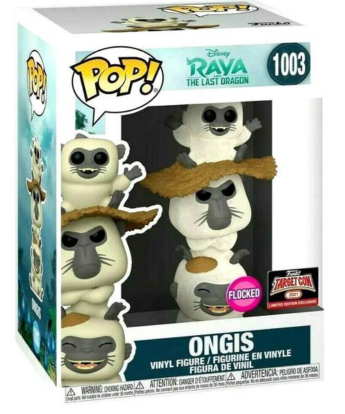 Funko Pop! ONGIS ( FLOCKED ) Raya & Last Dragon Figure TARGET CON