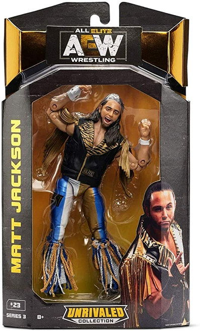 AEW All Elite Wrestling Unrivaled Collection Matt Jackson - 6.5-Inch Action Figure - Series 3