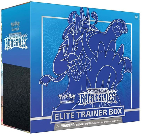 Pokemon TCG: Sword & Shield Battle Styles Elite Trainer Box - BLUE/RED