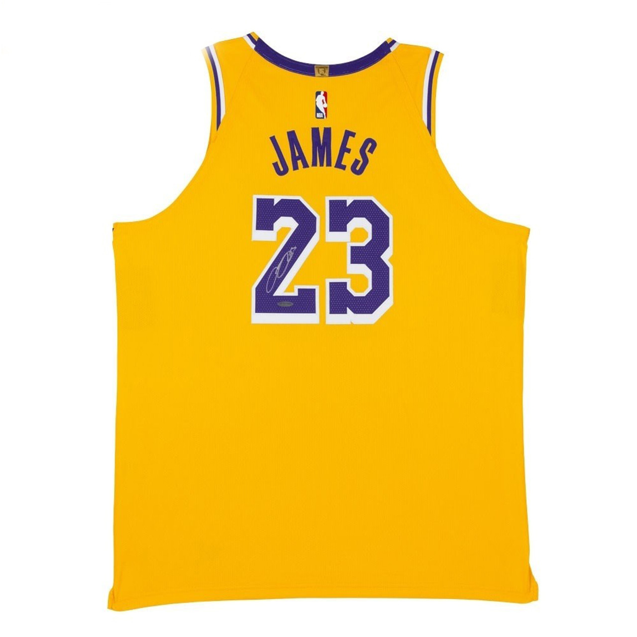 LEBRON JAMES Autographed Los Angeles Lakers Icon Edition Authentic Nike Jersey UDA