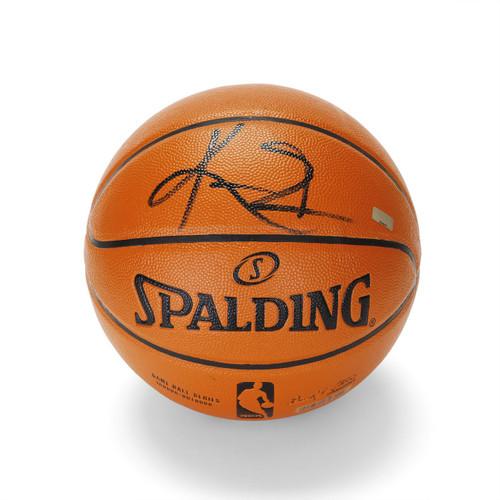 KYRIE IRVING Signed (Black) Spalding Basketball Cavaliers PANINI.