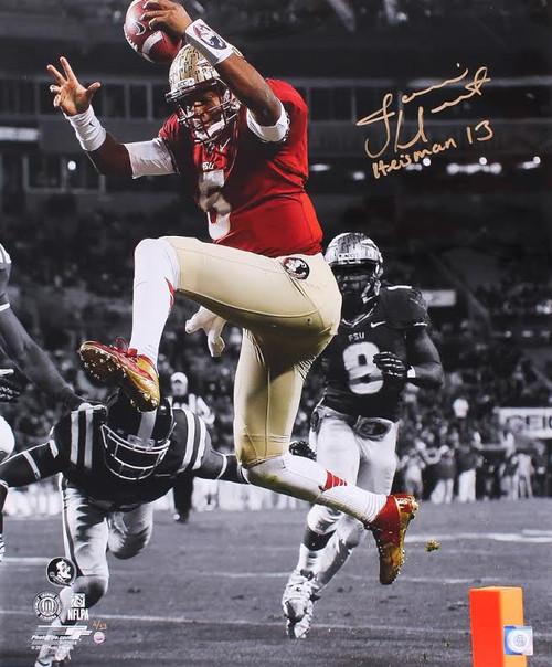 JAMEIS WINSTON Signed / Inscribed FSU Seminoles 20 x 24 Photo STEINER LE 13