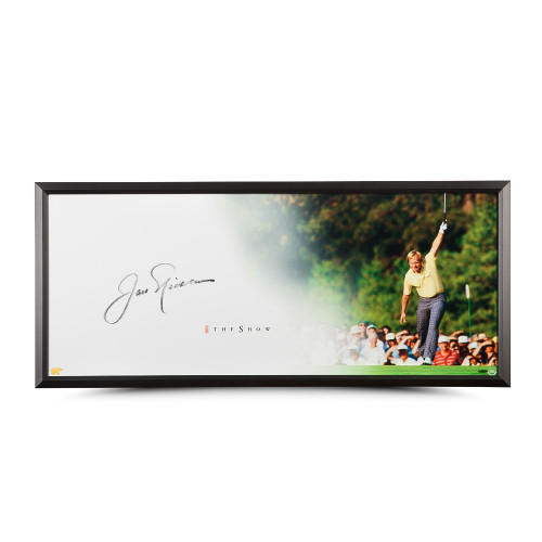 """JACK NICKLAUS Autographed Show """"The Putt"""" Framed Display Piece UDA"""